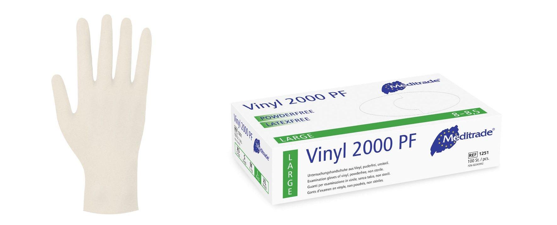 Einmalhandschuhe L, Vinyl, ( 1251L )