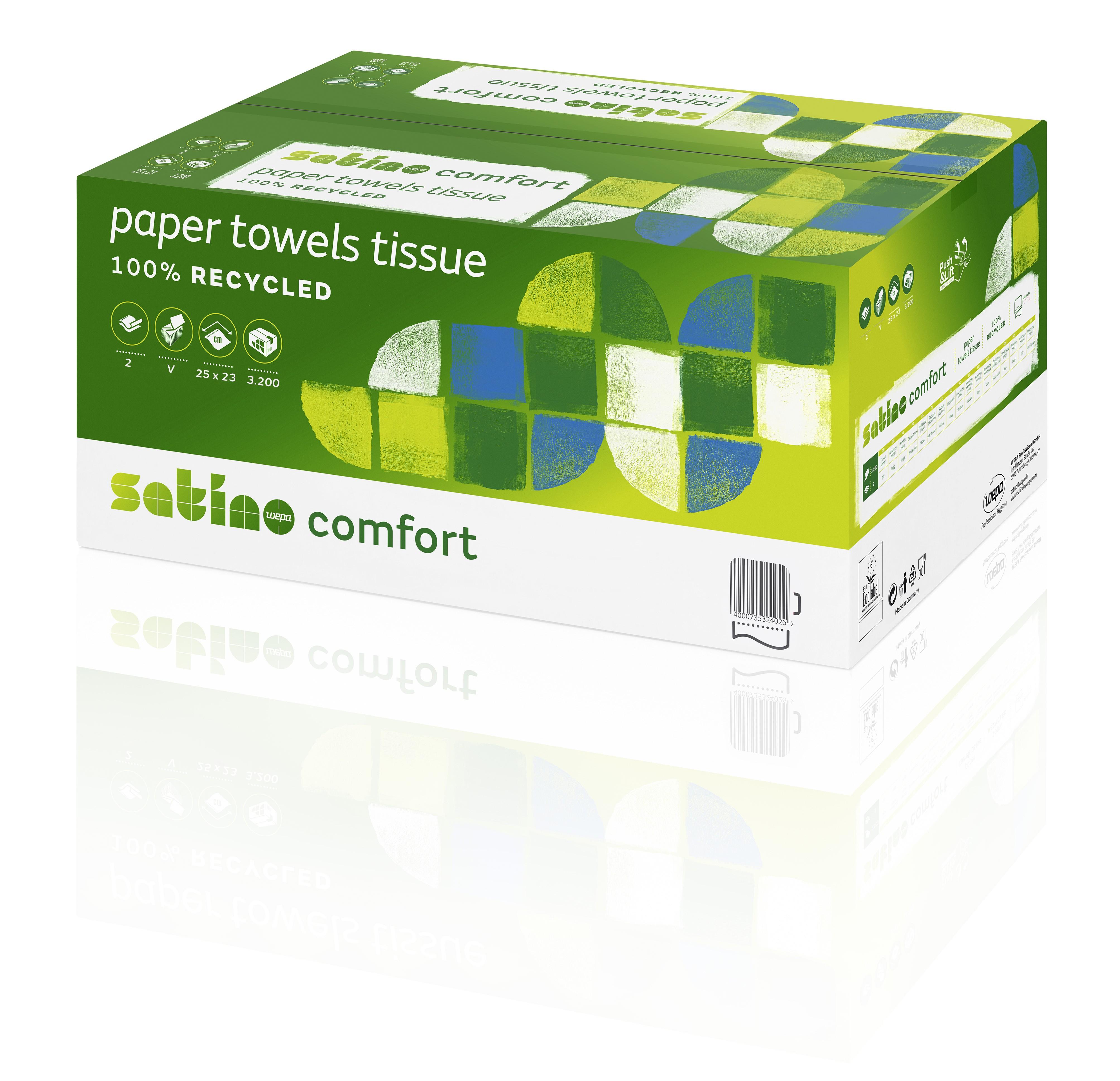 Papierhandtücher Satino Comfort hochweiß