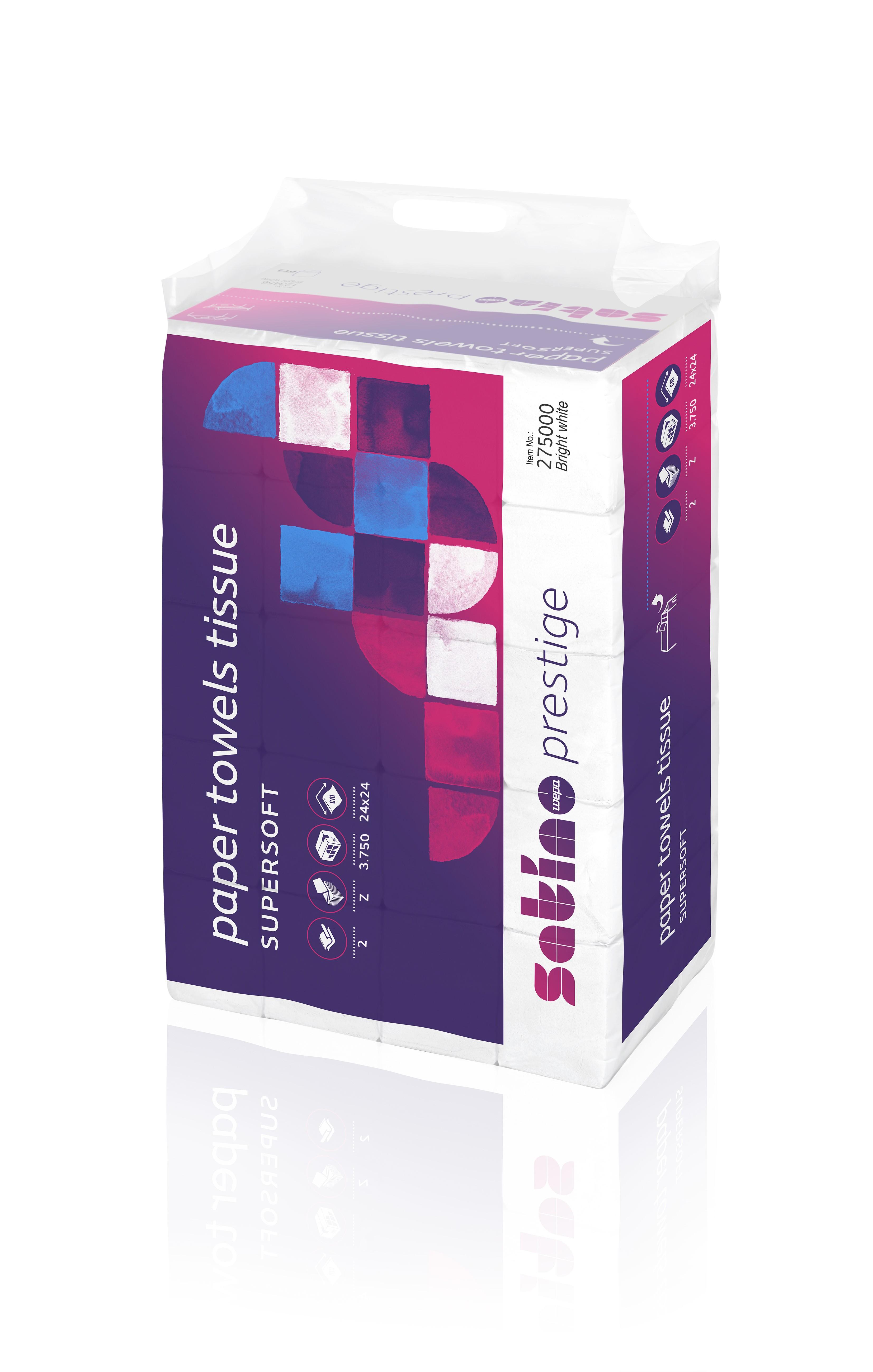 Papierhandtücher WEPA Prestige hochweiß