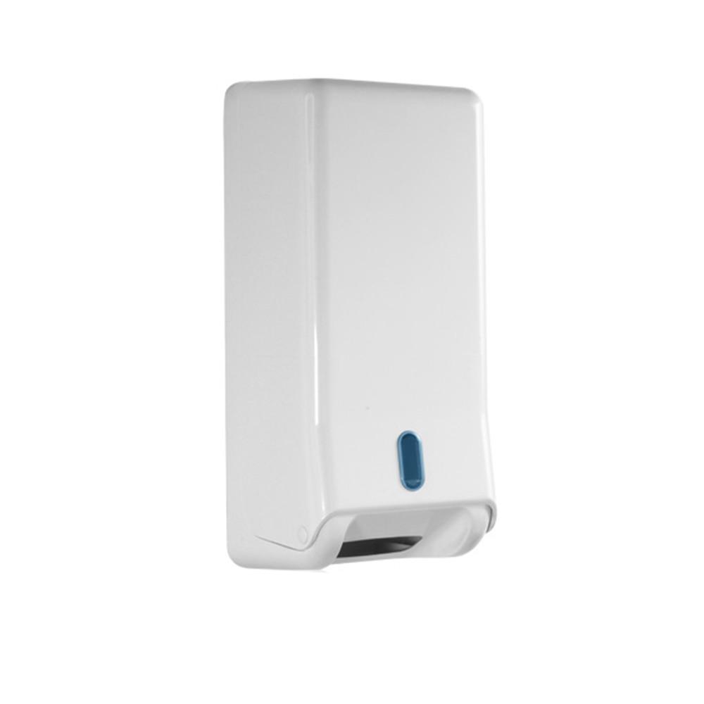 Toilettenpapierspender für Einzelblätter weiß Kunststoff