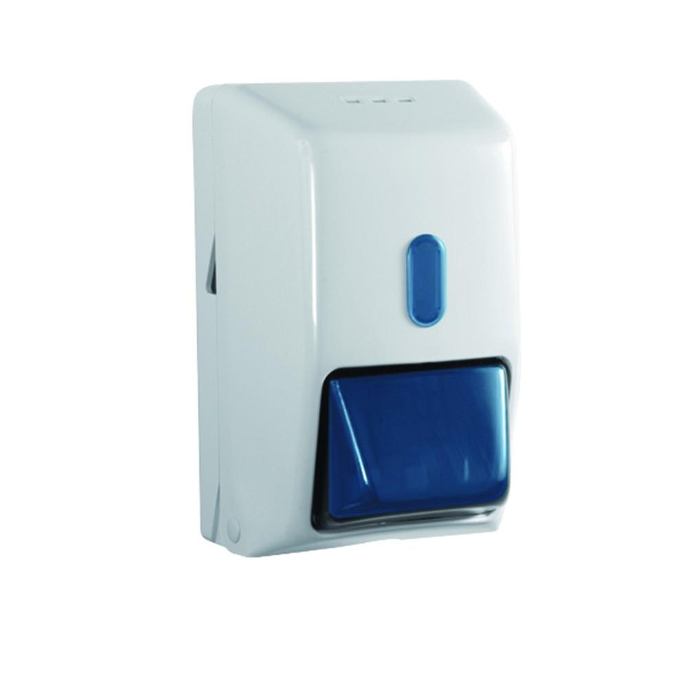 Seifenspender 350 ml abschließbar weiß Kunststoff